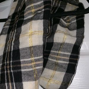 JCrew black and gold scarf
